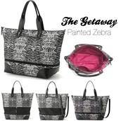 SOLD The Getaway Bag - Painted Zebra