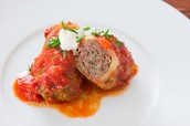Cabbage rolls in a tomato sauce