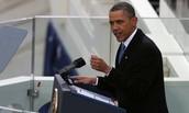 Barack Announcing his speech
