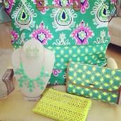 Green Ikat - a bold spring pattern...