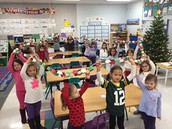 The whole class helped to make this chain!