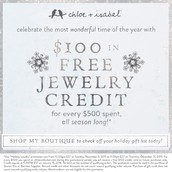 For every $500 spent this season EARN free Jewelry!