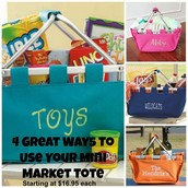 Personalized totes from The Old Bag Lady