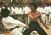Bruce Lee is well known for his martial arts and for his action movies.