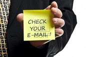 Check your GaVS e-mail daily