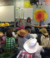 We loved celebrating western day with our mystery reader! Thank you Joanna Israel!