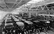 The mass production of the model T.
