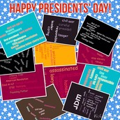 Presidents' Day Word Clouds