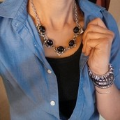 Rory Necklace-Black