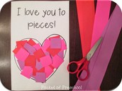 Advanced Toddlers - I Love You To Pieces Valentine