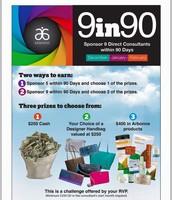 9 in 90 Sponsoring Challenge!!!!