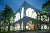 Modern Building with Arches