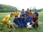 Soccer club teammates