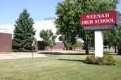 What is the history of the Rocket in front of Neenah High School?