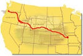 The route to Oregon!