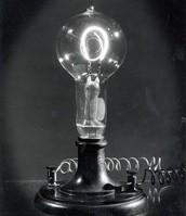 This is Thomas Edisons creation The Lightbulb