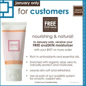 Free Moisterizer with a $95 purchase