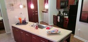 Open kitchen, great for entertaining!