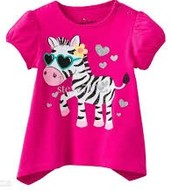 A T-shirt with zebra print
