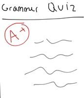 The boy's grammar quiz.