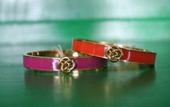Lindsay bangle - orange & purple NOW $40
