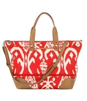 Getaway bag, red ikat £50