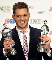Michael Buble winning Juno Awards!