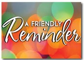 Weekend Opening Reminder