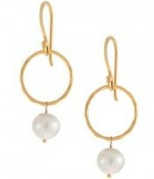 Grace Pearl Earrings - Gold/Ivory