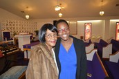 The Beautiful Jackson Ladies Fellowshipping after Church