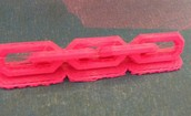 The finished project, a plastic chain