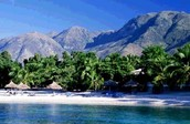 this is a beach in haiti