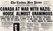 10th Sep, 1939. Canada declares war on Germany.
