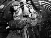 Paratroopers getting ready