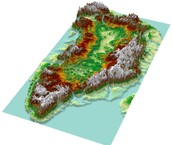 Greenland Topographical Map