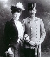 The Archduke Franz Ferdinand and his wife Sophie