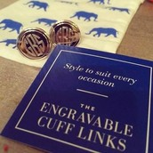Engraveable Cuff Links for Him/Her