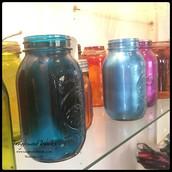 Hand-dyed Mason Jars by Sadie: $10