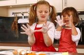 ABBY & EMMA BAKING COOKIES...YUMMY!