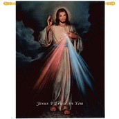 The Divine Mercy w/Words Tapestry of Fine Art