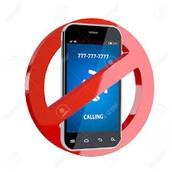 Los celulares se están prohibiendo.