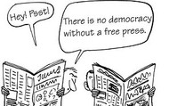 NO DEMOCRACY NO PRESS