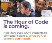 The Hour of CODE is COMING! Help support this fun event done across the globe!