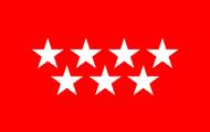 La bandera de Madrid.