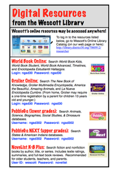 Digital Resources from the Wescott Library