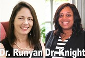 Dr. Helen Runyan, Asst. Professor Regent University and Co. President VAMCD and Dr. Jasmine Knight Assistant Professor Regent University