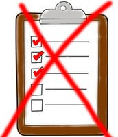 Crossed out checklist