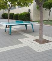 שולחן הפינג פונג בו אנו משחקים בהפסקות