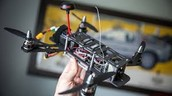 a racing quadcopter
