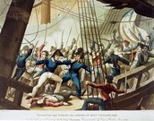 British attacking the Chesapeake boat